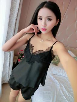 black_silky_lace_nightie_shorts_set_1024x1024