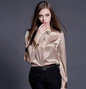 beige satin blouse