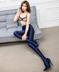 Leohex Shiny Tights Blue