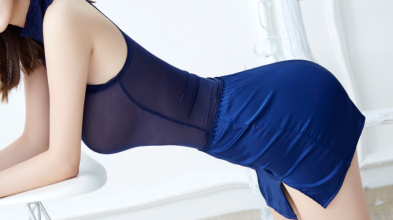 Blue Leotard Blue Mini Skirt